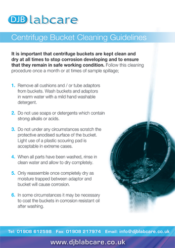 Centrifuge Bucket Cleaning Guidelines