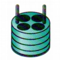 Adaptor 4 x 50 ml DIN standard tubes (green)