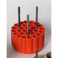 ADAPTERS (ORANGE) FOR 28 x 13mm diaTUBES- min length 48mm maxlength 125mm