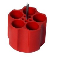 ADAPTERS (RED) FOR 5x50ML TUBES- 32mm dia -min length32mm max length125mm