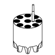 Adapter for 15 ml tubes, conical (Falcon type)
