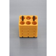 Set of 4 Rectangular Adapters 6 x 25 ml DIN