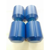 Set of 4 adapters 5 x 25/30 ml DIN flat/round