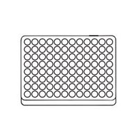 Support plate for 1 PCR-plate 96-well