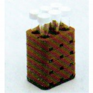 Adaptor 6 x 15 ml Falcon-type tube, Centri-Lab (brown)